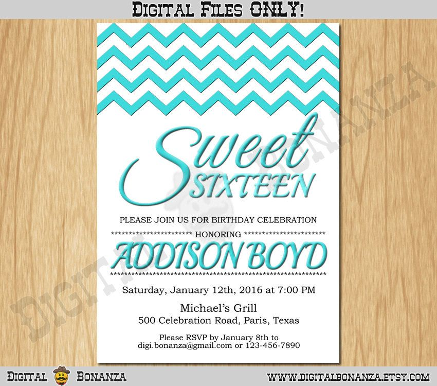 Sweet 16th birthday invitation sixteen white turquoise birthday sweet 16th birthday invitation sixteen white turquoise birthday party invite teen surprise birthday printable f16 003ti by digitalbonanza on etsy filmwisefo