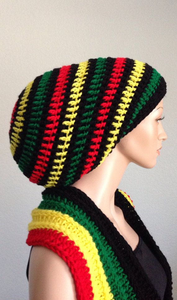 Unisex Crochet Rasta Tam/ Handmade Dreadlocks Tam/ by Africancrab ...