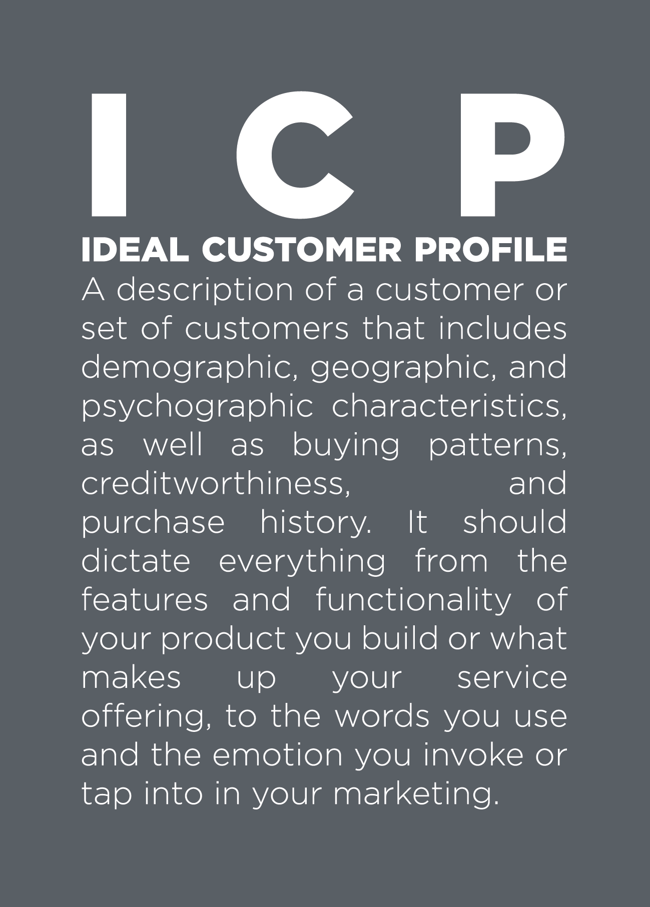 Icp  Ideal Customer Profile  BB Words