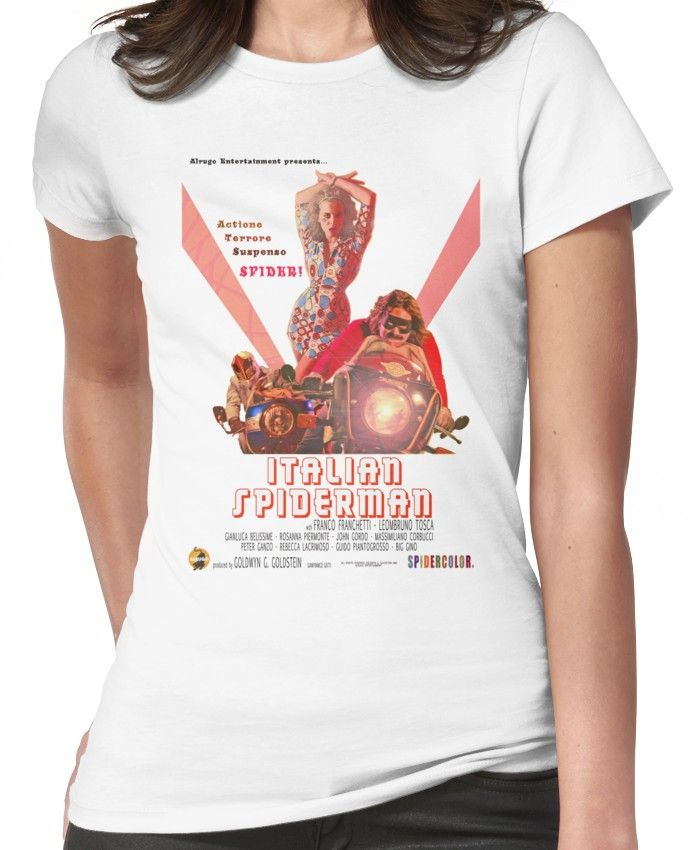 d1ec1c48 Italian Spiderman Poster - ONE:Print' T-Shirt by StickerBomber ...