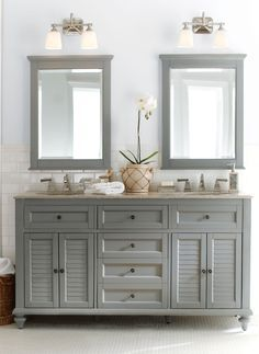 Gorgeous In Grey Double The Fun This Bath Vanity Is A