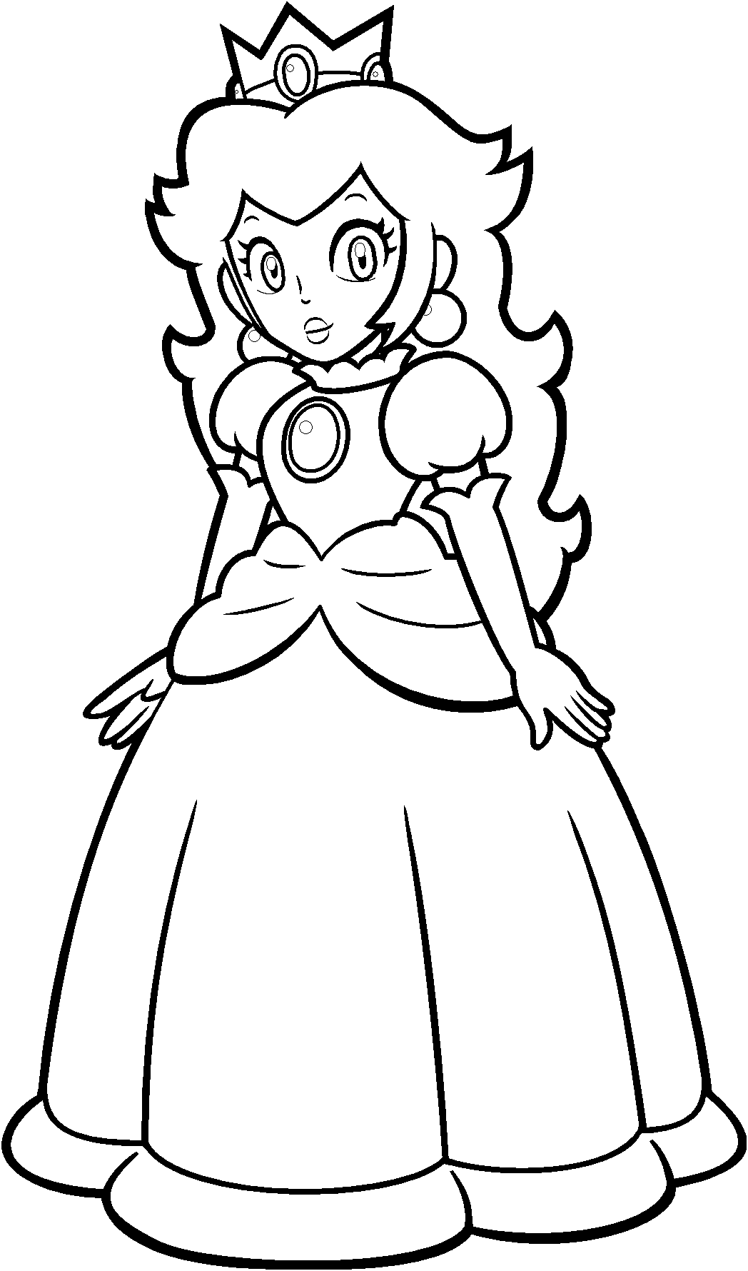 Free Princess Peach Coloring Pages For Kids Princess Coloring Pages Princess Coloring Cartoon Coloring Pages