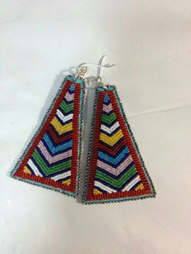 Lakota Sioux Beadwork Design Charlene Holy Bear Chevron