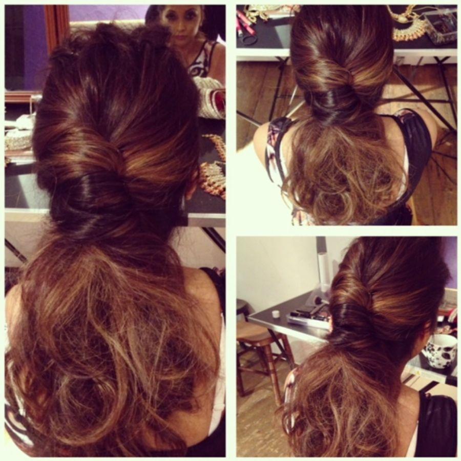christmas hair | ponytail | party hair styles| elegant hair | the