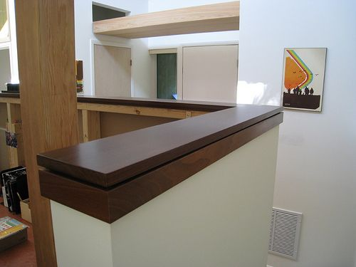 Office Caps Banisters Stair Railing Stairway Walls Wooden Wall Wood