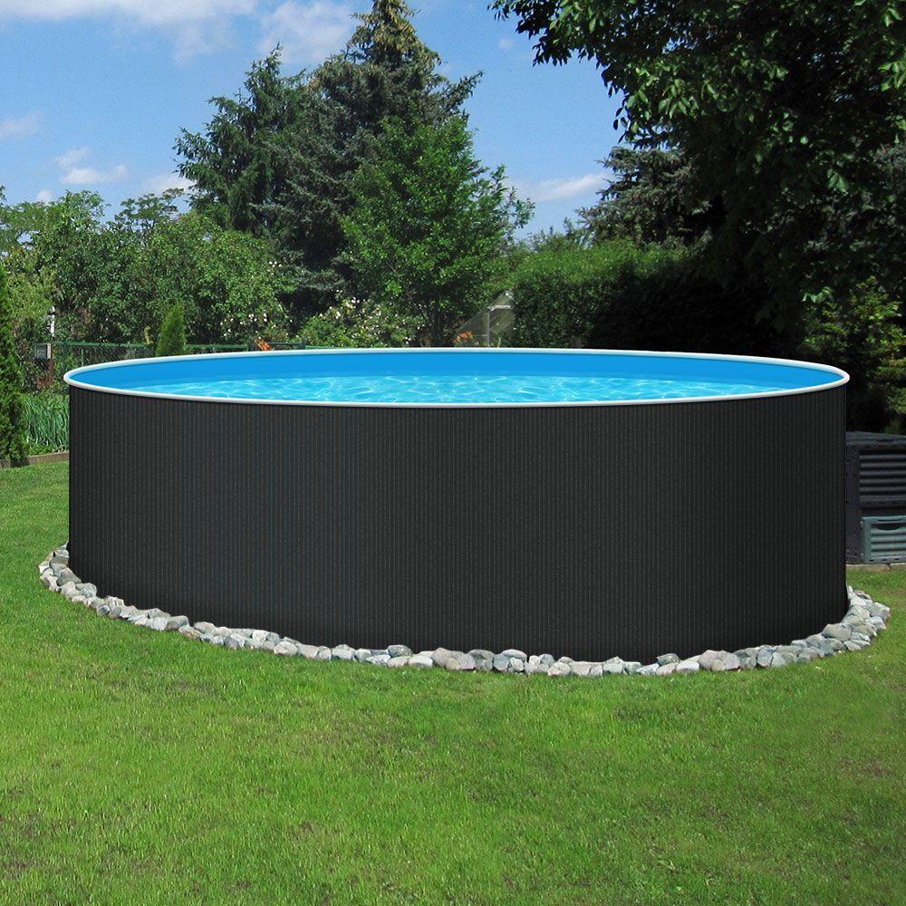 Diesen Stahlwand Rundpool Mit Eleganter Fein Stru In 2020 Pool Im Garten Gartenpools Schwimmbecken