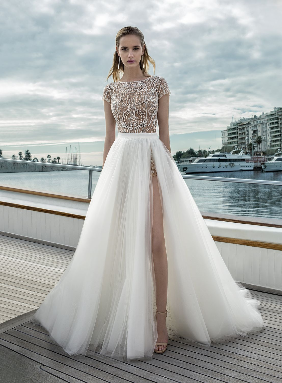 9c2385ad9 vestido de novia convertible..falda de tul y body en finas pedrerías ...