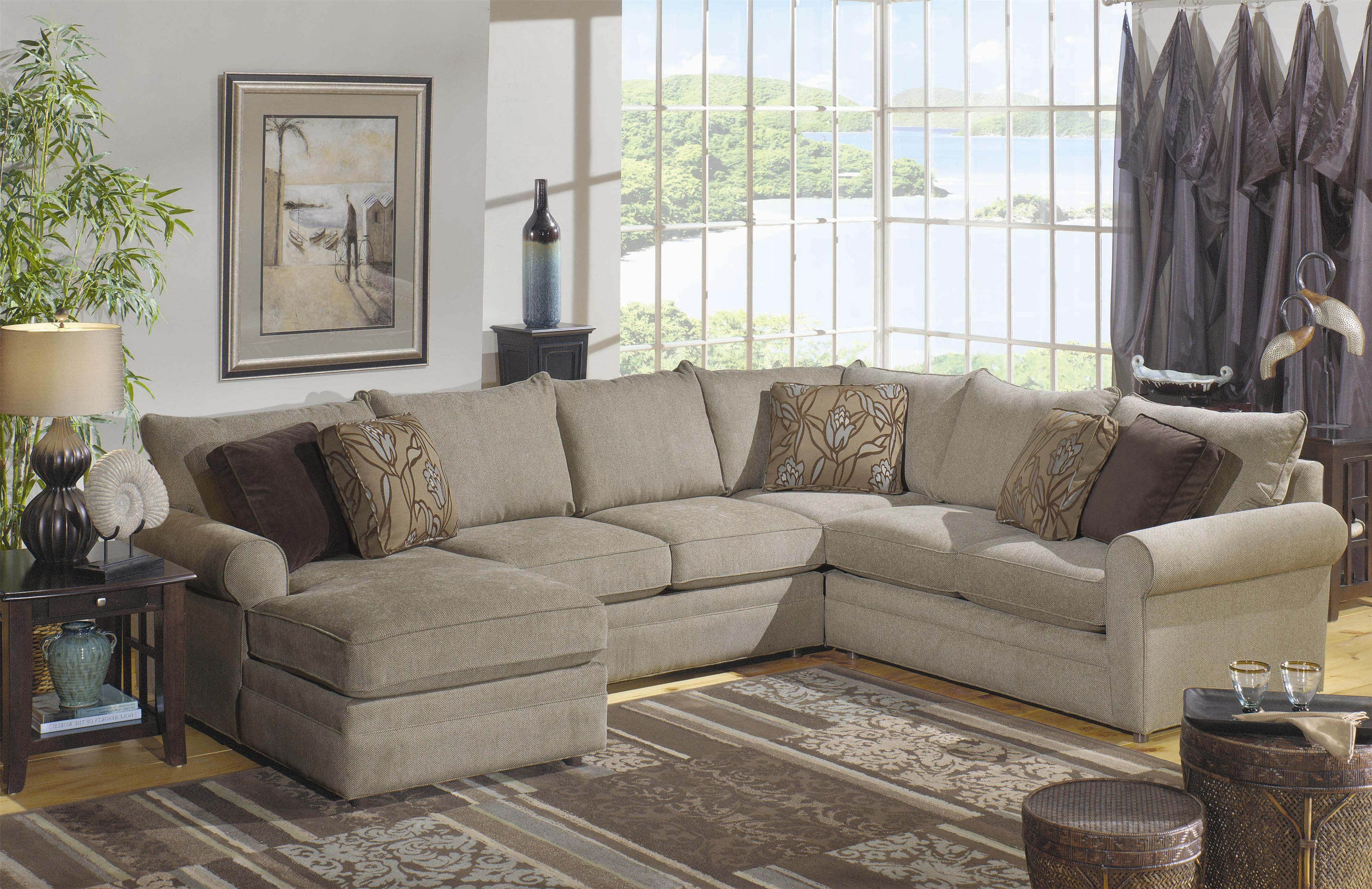 Hickory Craft 7748 Sectional Sofa With Left Side Chaise   Godby Home  Furnishings   Sofa Sectional Noblesville, Carmel, Avon, Indianapolis,  Indiana