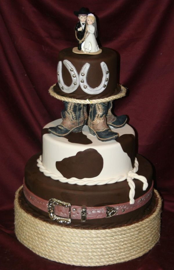 Western Bale Shaped Cake For Weding