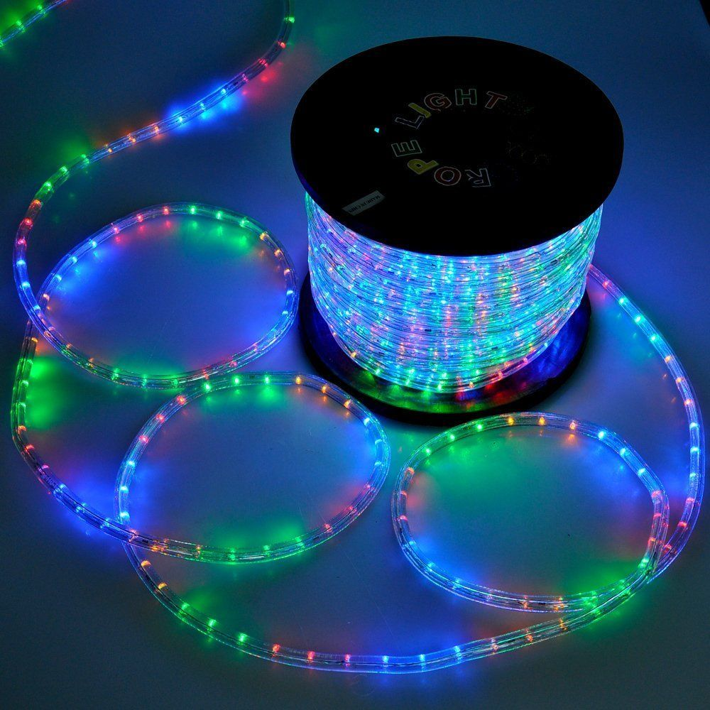 Christmas Lighting Led Rope Light 150ft Multicolor W Connector