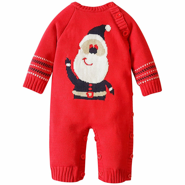 ZOEREA Baby Sweater Cartoon Pattern toddler Romper Suit Christmas 0