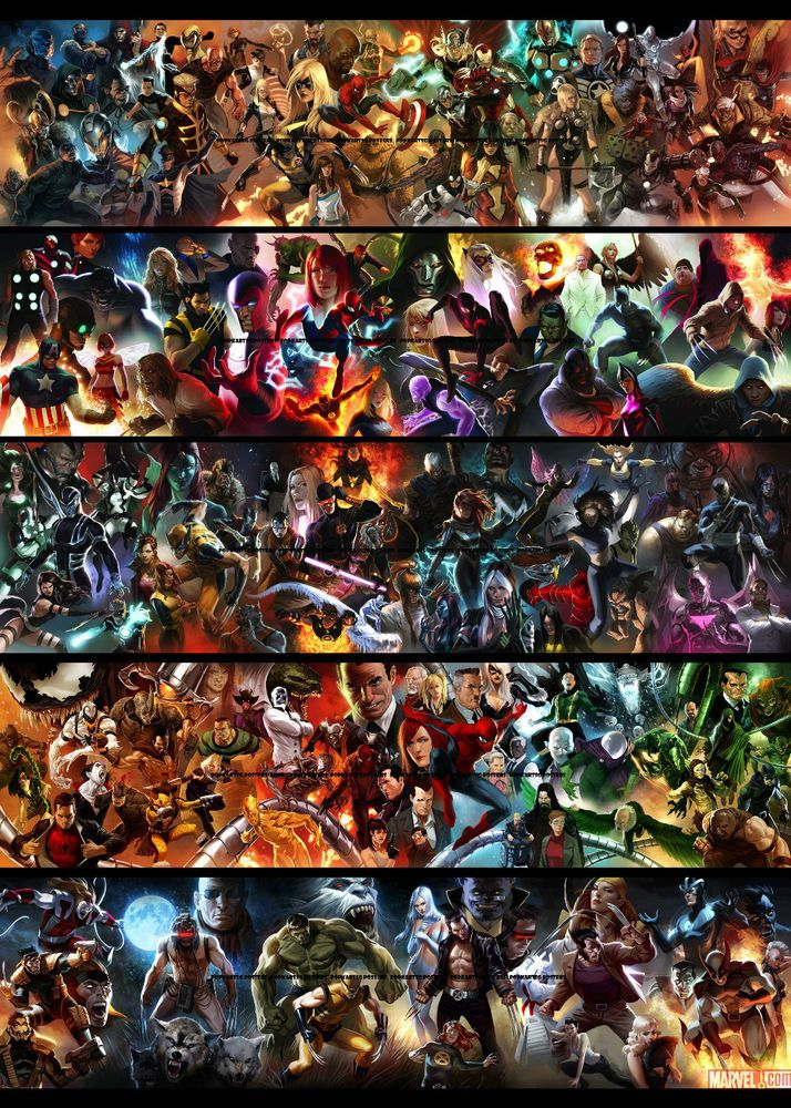 Marvel Malvorlagen Marvel Superhero The Marvel Super: Marvel Comics Poster ALL STAR MARVEL SUPER HEROES