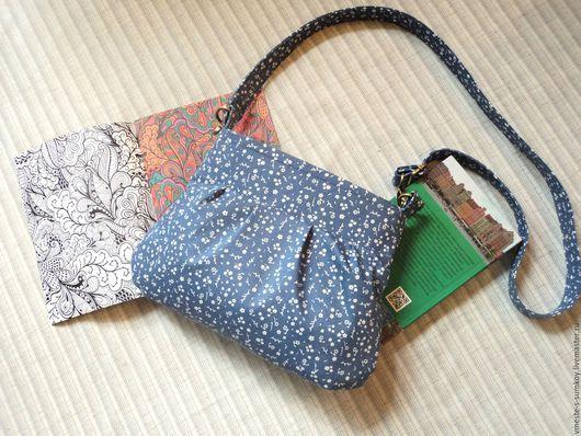 Женские сумки ручной работы. Ярмарка Мастеров - ручная работа. Купить Джинсовая сумочка на длинном ремешке №2. Handmade.
