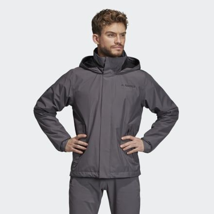 Terrex Ax Rain Jacket Grey Mens   Rain jacket, Jackets, Gray