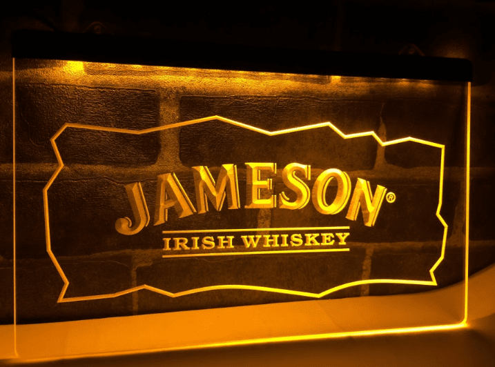 Jameson Whiskey Bar Club Pub Neon Light LED Sign | Jameson