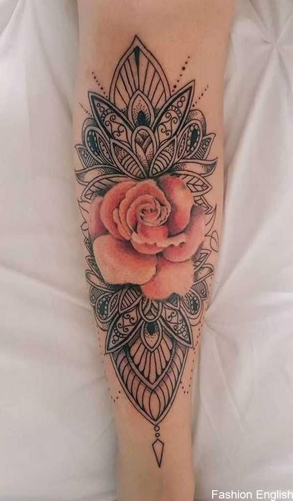Cool Tribal Unique Mandala Watercolor Pink Rose Forearm Tattoo Ideas For Women Cool Fore Mandala Tattoo Sleeve Sleeve Tattoos For Women Sleeve Tattoos