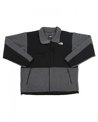 North Face Denali Mens AMYN-MA9 Charcoal Grey Black Fleece Zip Jacket Size M