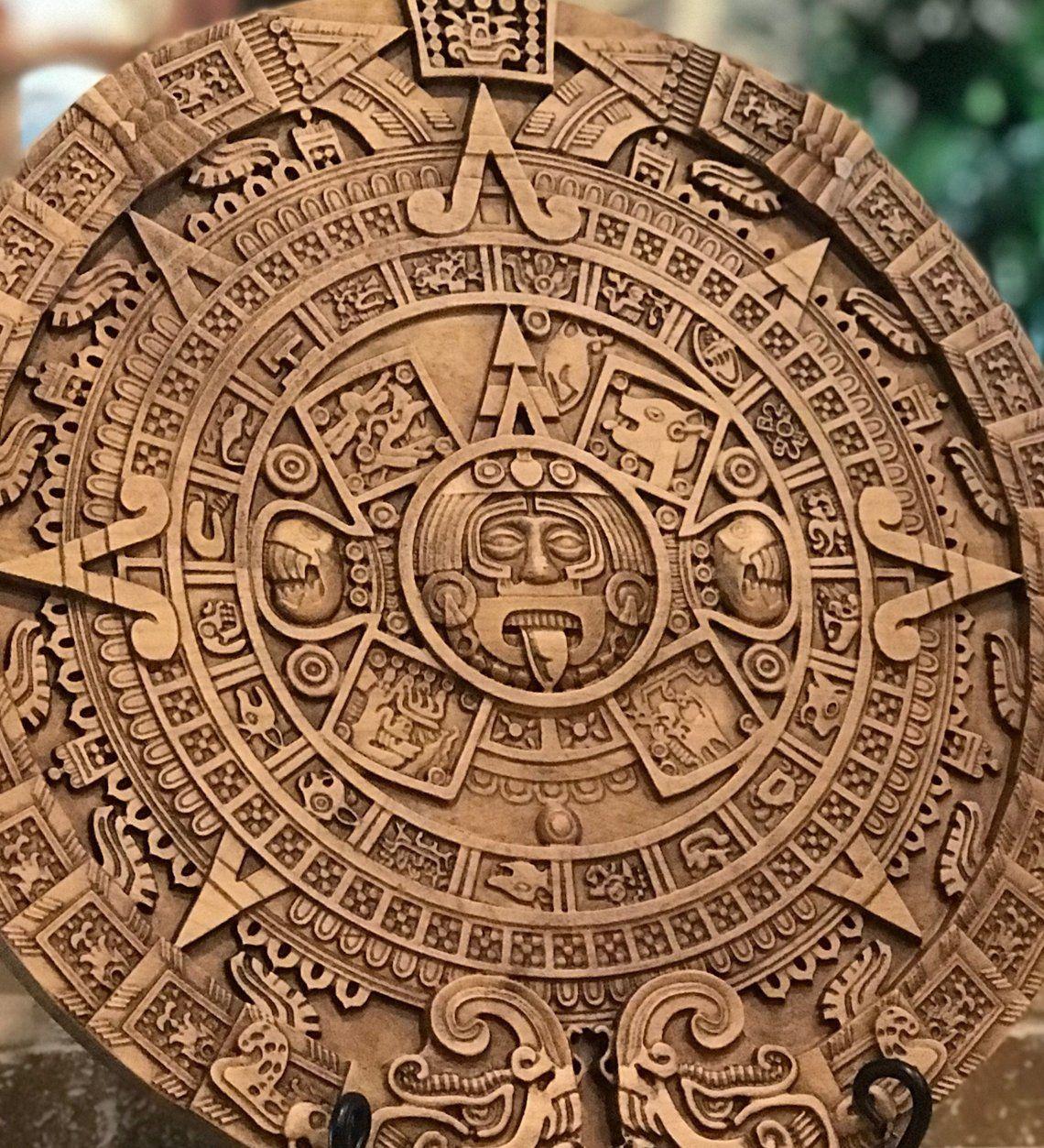 Mayan Calendar Mayan Art Aztec Calendar Custom Signs Etsy