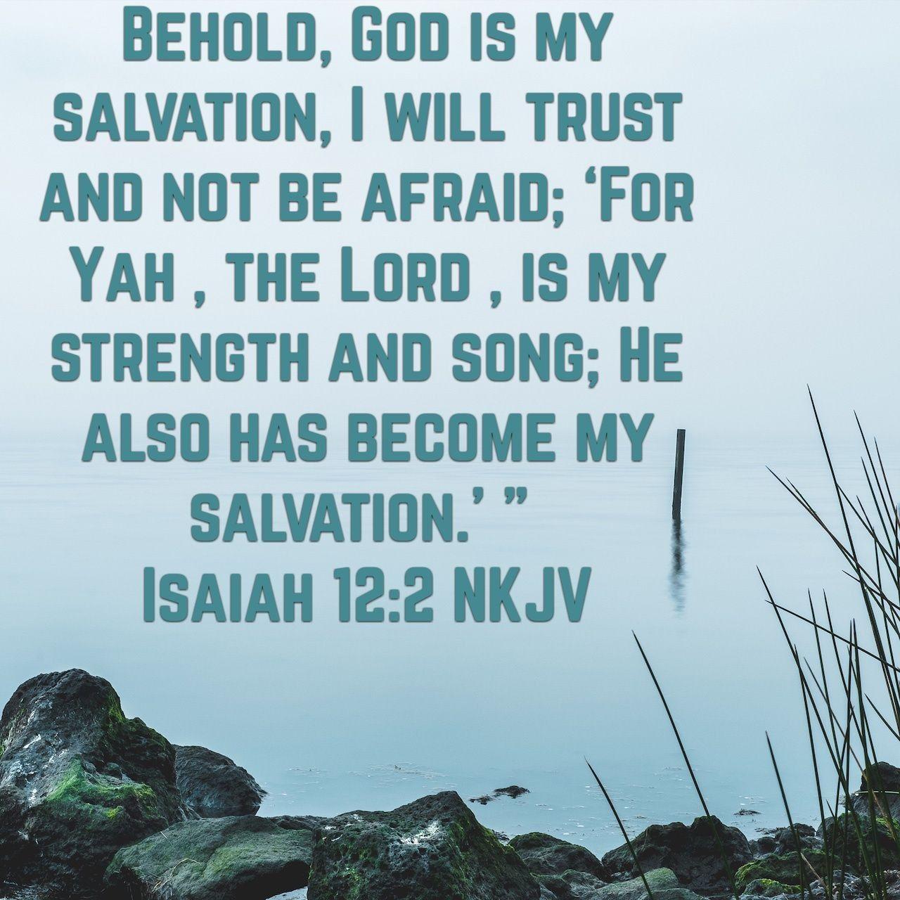 Isaiah 12 2 Christian Journaling Word Of God Isaiah 12 2