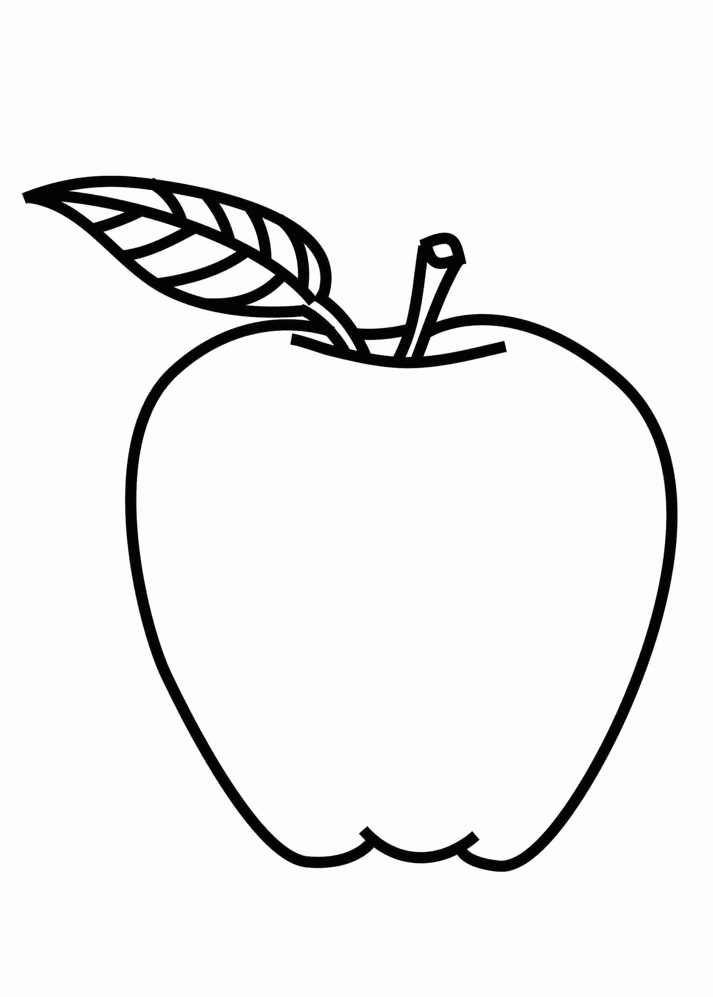 Printable Coloring Pages Apple Apple Coloring Pages Fruit Coloring Pages Apple Picture