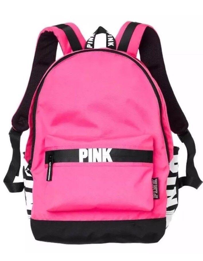 a3e97927b90 Victoria s Secret PINK Campus Backpack Hot Pink Black White Bookbag New  Girls  VictoriasSecretPink  Backpack