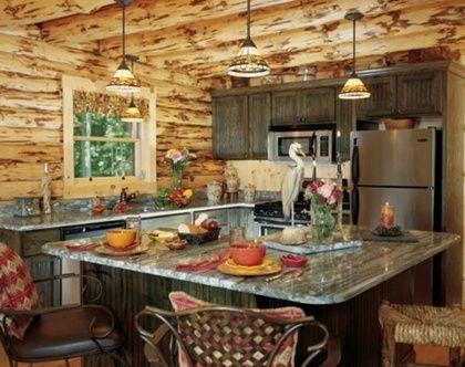 diseño de cocina rustico para casas de madera Dormitorios