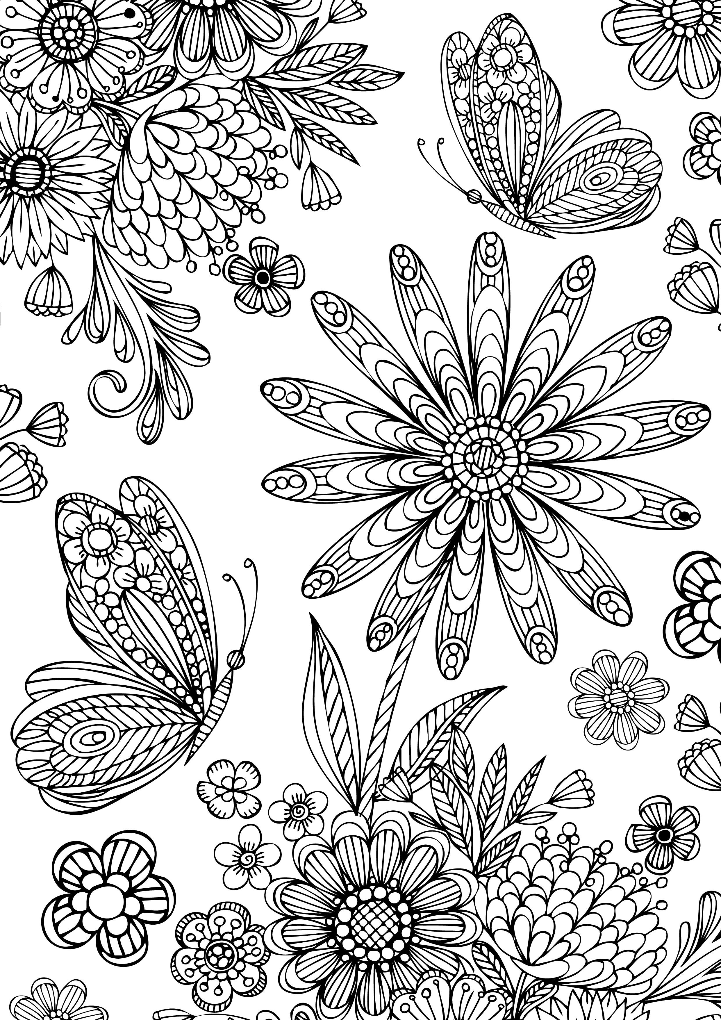 Free Coloring For Adults With Spectrum Noir Dibujar