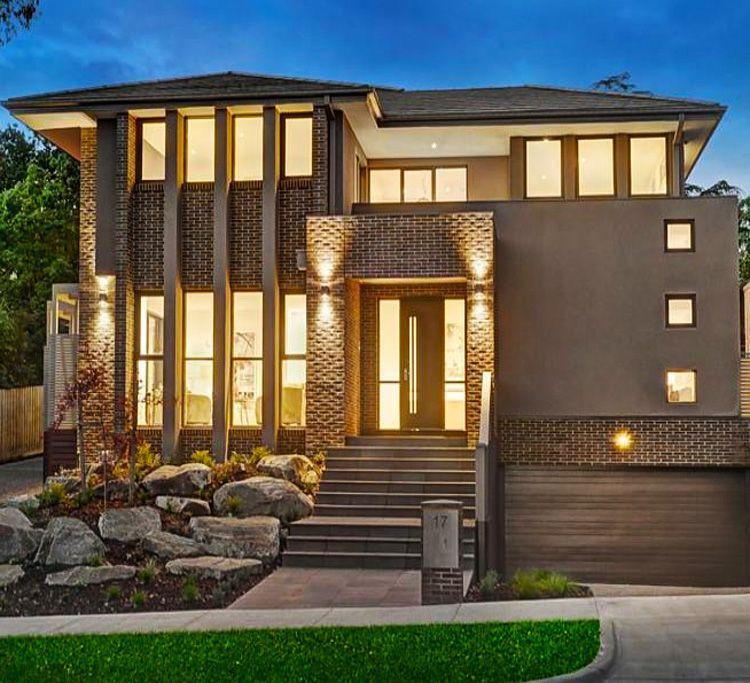 Casa moderna haus pinterest casas modernas moderno - Arquitectura moderna casas ...