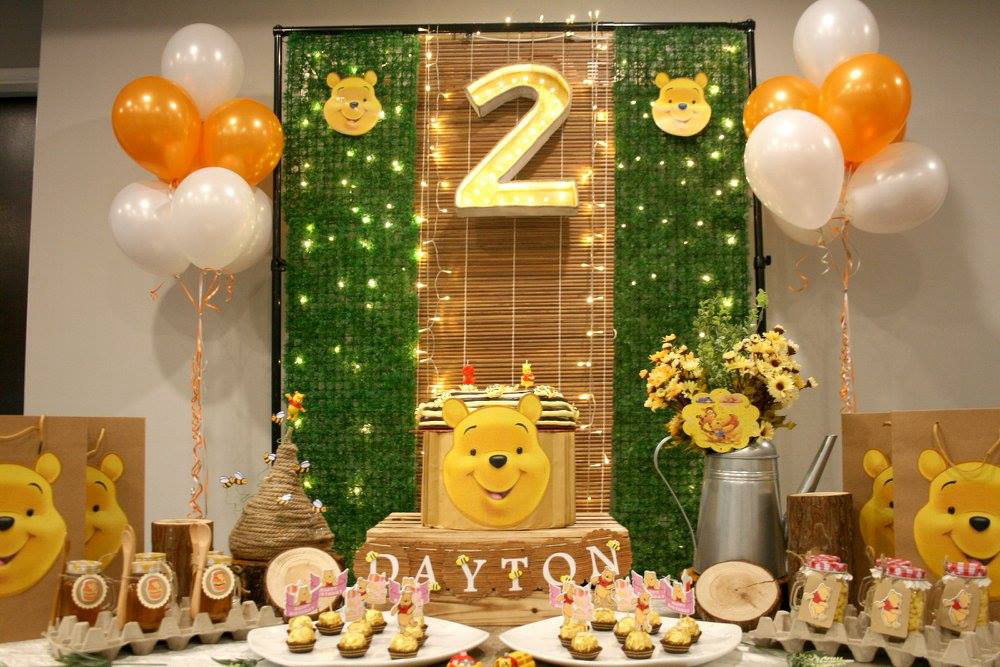 What A Fun Winnie The Pooh Theme Birthday Party See More Ideas And Share Yours At CatchMyParty Winniethepooh Desserttable