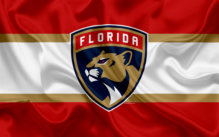 Download wallpapers Florida Panthers, hockey club, NHL, emblem, logo, National Hockey League, hockey, Sunrise, Florida, USA