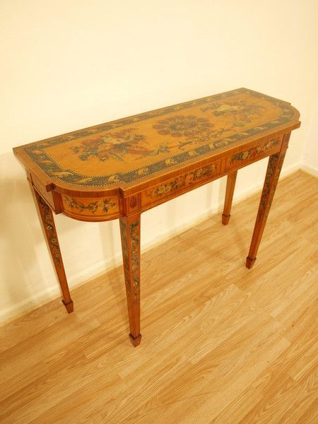 Antiques #edwardianperiod OnlineGalleries.com - A Satinwood Painted Edwardian Period Sheraton Revival Side Table #edwardianperiod Antiques #edwardianperiod OnlineGalleries.com - A Satinwood Painted Edwardian Period Sheraton Revival Side Table #edwardianperiod