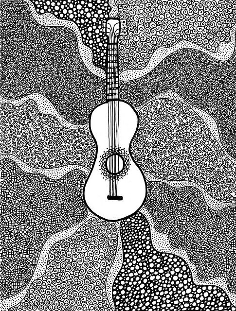guitar doodles...would print this and hang it!!!!