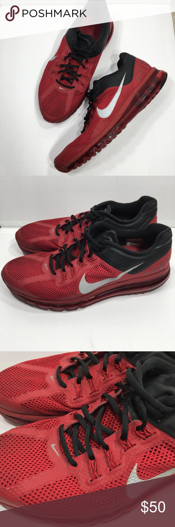 the best attitude 9b0e8 fa17a Nike Men s Air Max 2013 varsity red Men s size 13 Gently worn Minimal signs  of wear The Air max letters on back have some signs of wear (see photos)  Overall ...