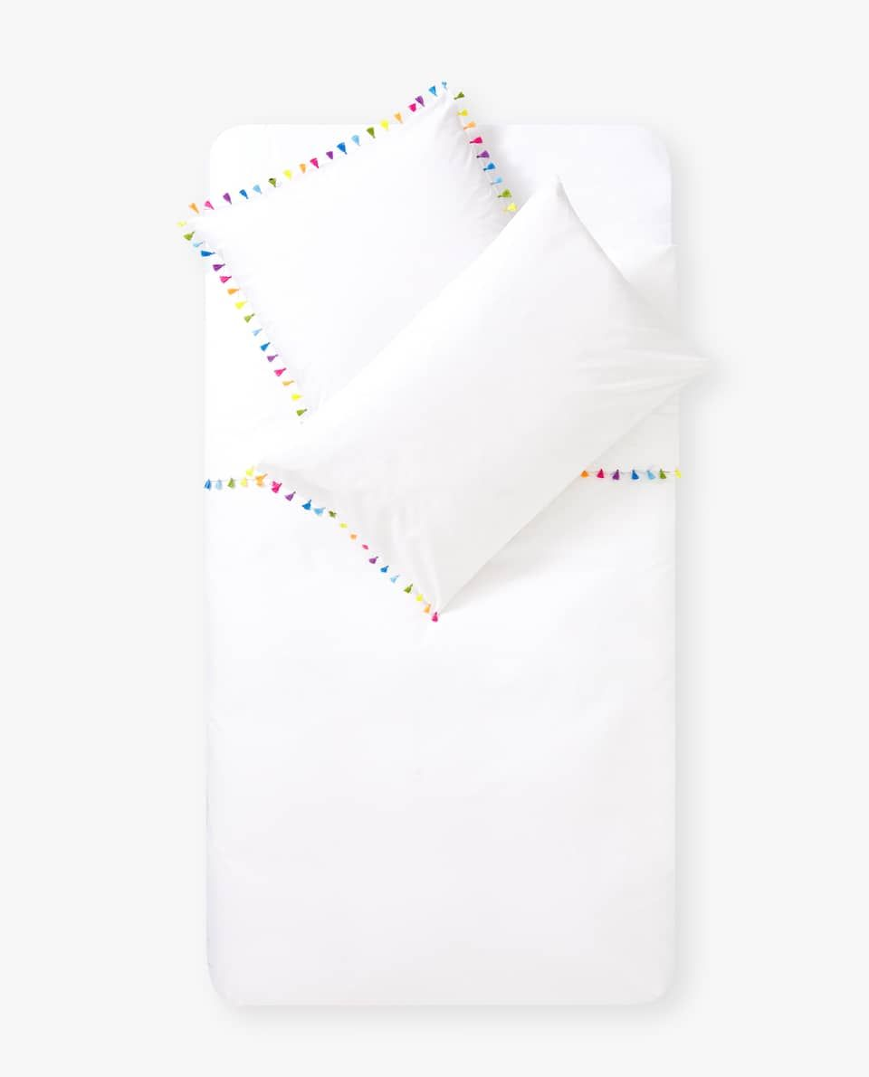 Egyptian percale bedding with pompoms in 2019   Zara home ...