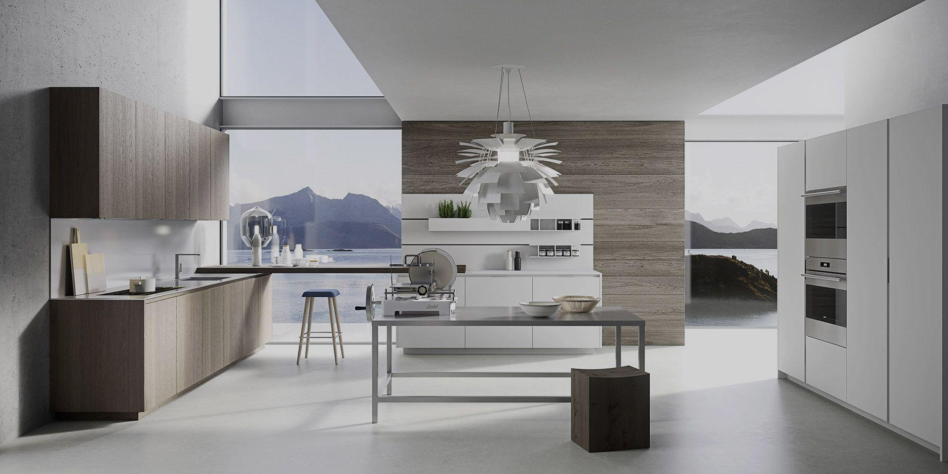Clean Scandinavian design of a modern day kitchen.   Italian ...