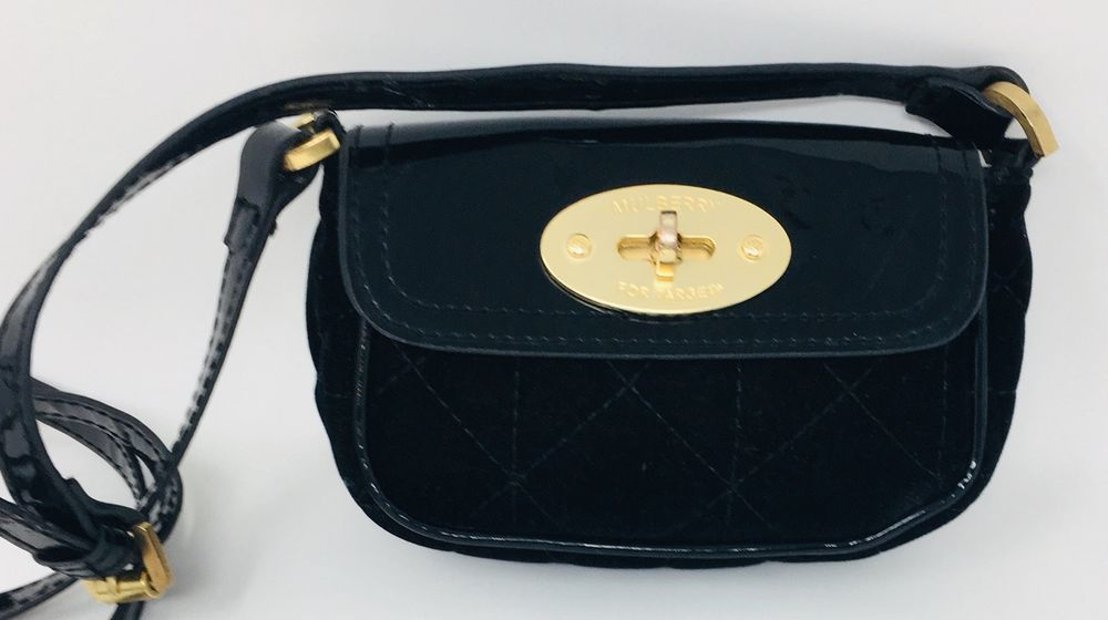Mulberry For Target Black Cross Shoulder Bag Crossbody Patent Leather And  Velvet  fashion  clothing  shoes  accessories  womensbagshandbags (ebay  link) a279e91b00