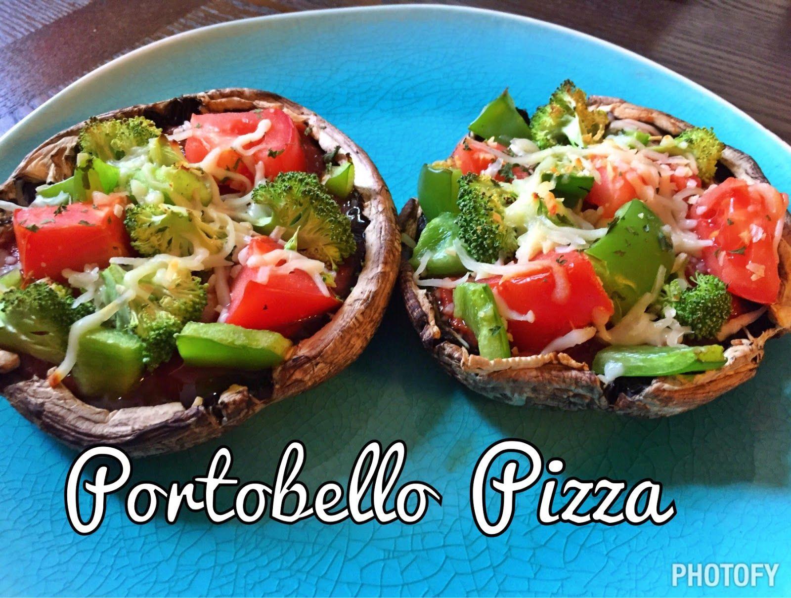 Portobello Mushroom Pizza –