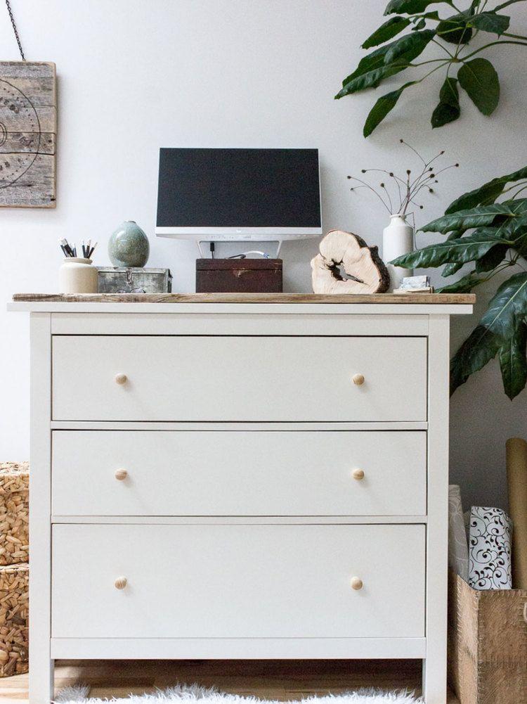Ikea Hemnes Standing Desk Hack In 2020 Ikea Hemnes Dresser Ikea Hemnes Hemnes Dresser
