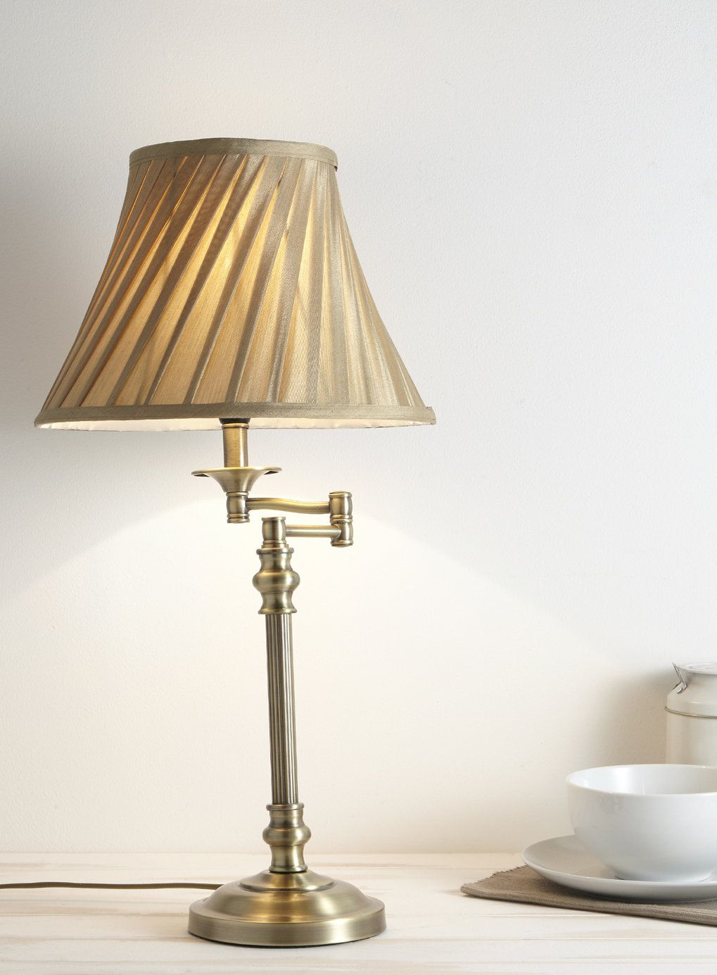 Swing Arm Table Lamp - BHS | Lamps | Pinterest | Bhs, Bedrooms and Room