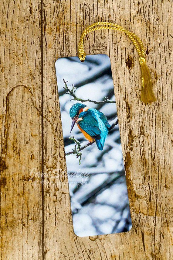Aluminium bookmark Photo bookmark Kingfisher Bird bookmark ...