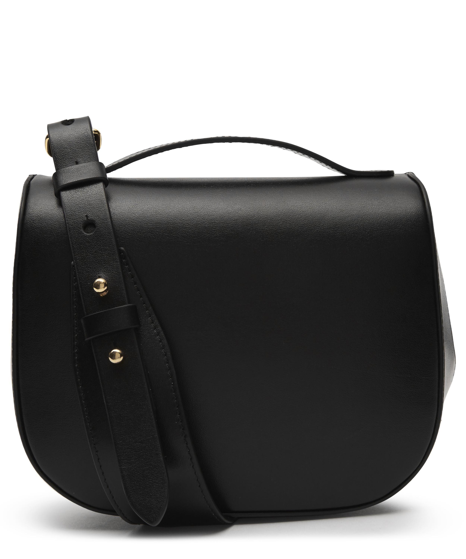 Women's Black Mini Leather Cross body Bag | shoulder bags in