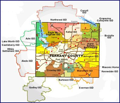Map Of Texas Isds.Tarrant County Texas Public Independent Schools Districts Great
