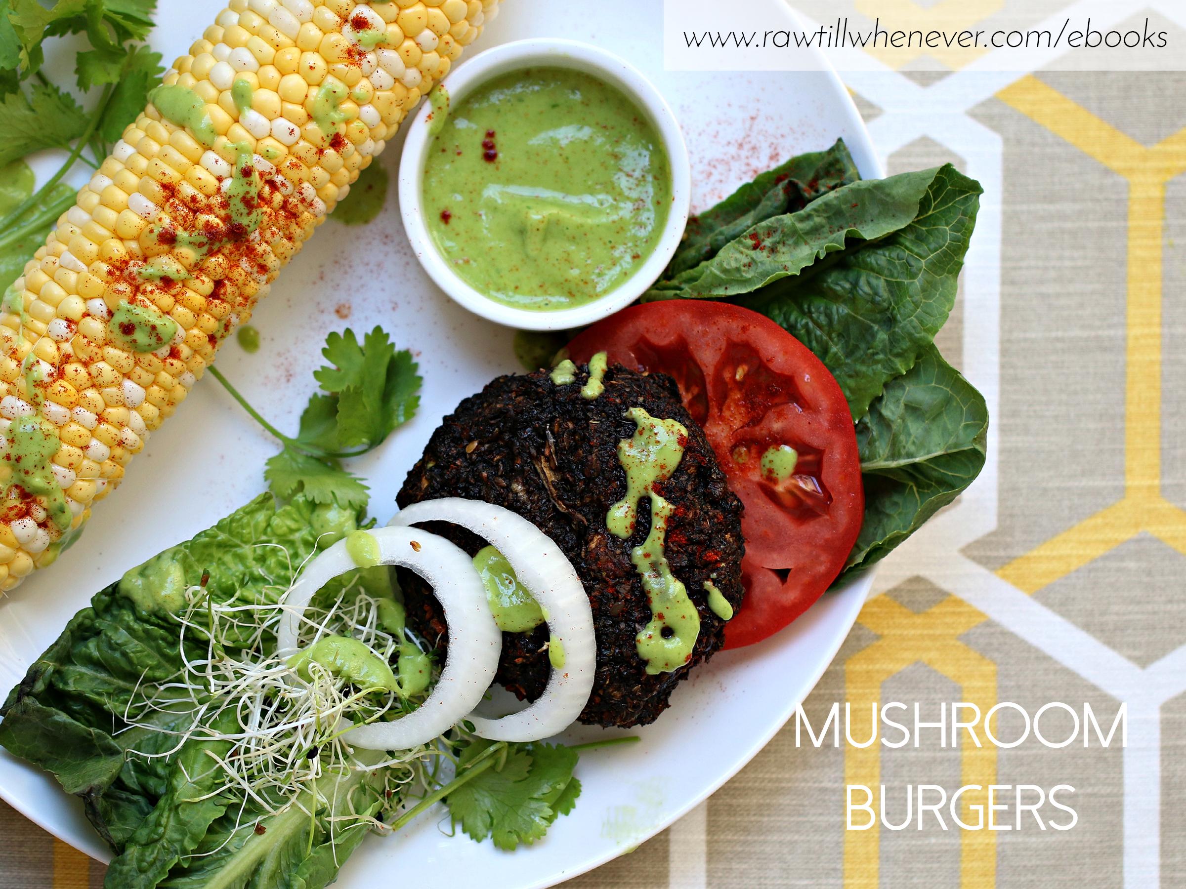 Mushroom burgers recipe featured from my raw vegan recipe book mushroom burgers recipe featured from my raw vegan recipe book ilikeitraw forumfinder Choice Image