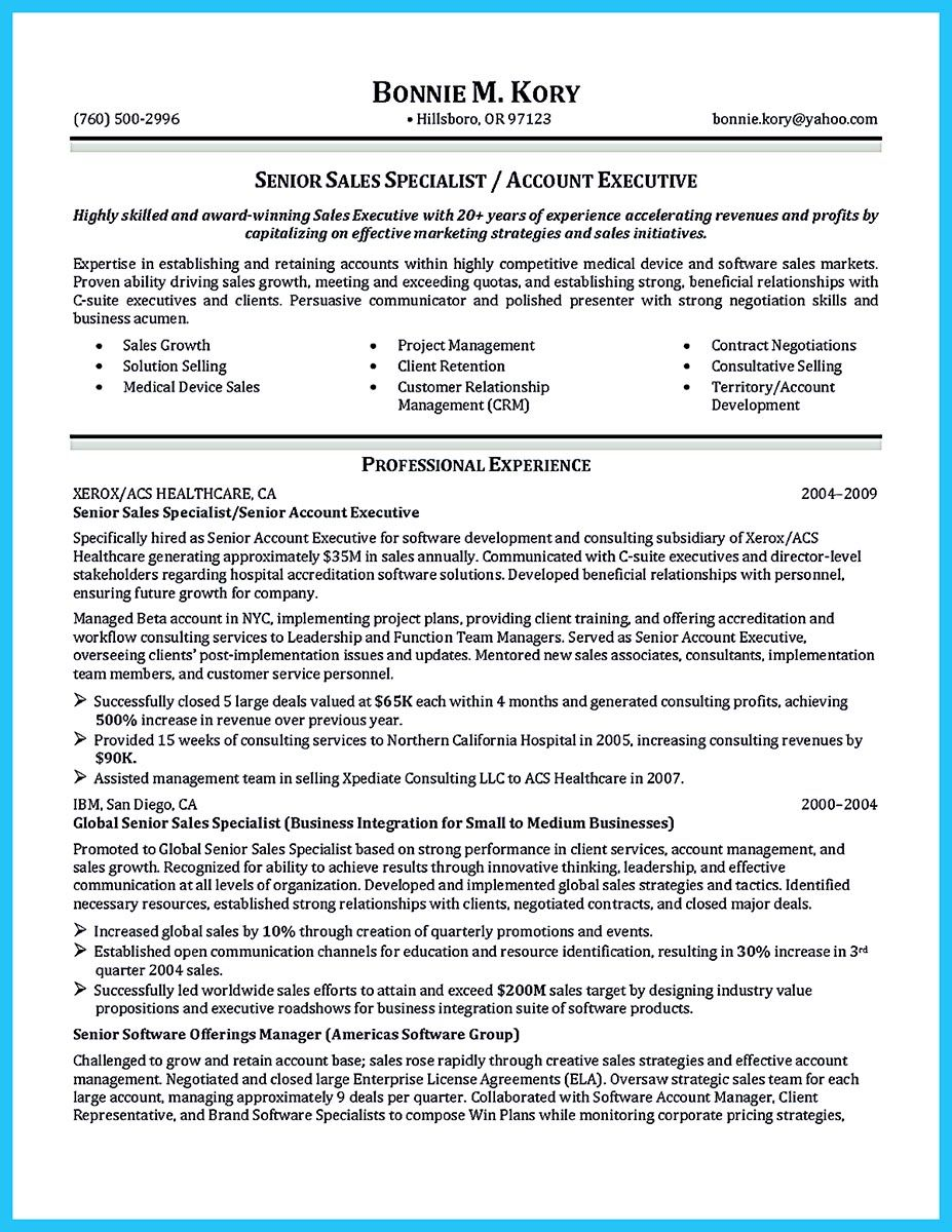 When you make the business development resume, consider