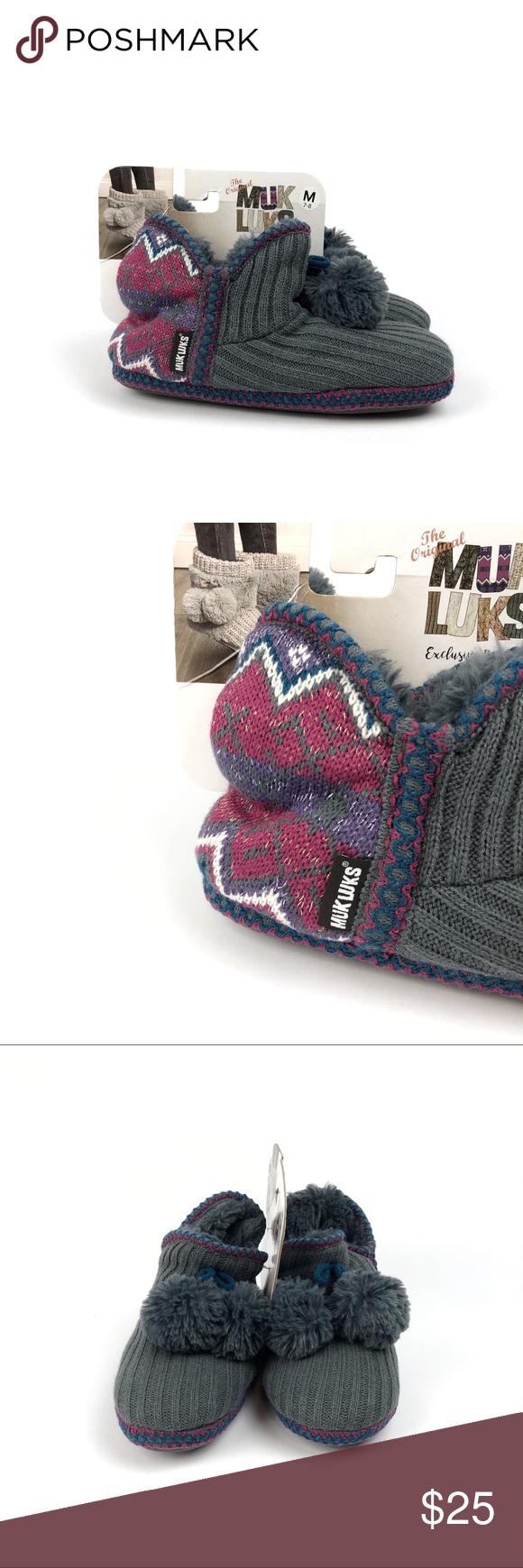 aca78fee4c4 NWT Muk Luks Womens Amira Boot Slippers S556 Muk Luks® Amira boot ...