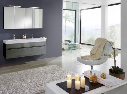 Günstige Badezimmermöbel ~ Badezimmermöbel aus holz badmöbel set in schwarz hochglanz mit