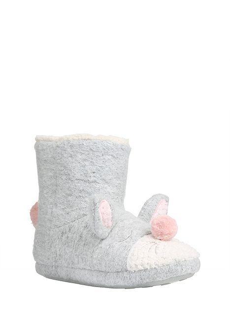Tesco direct: F&F Rabbit Bootie Slippers | Slippers | Pinterest ...