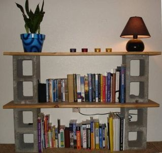 How To Build A Bookshelf Out Of Cinder Blocks And Boards Cinder