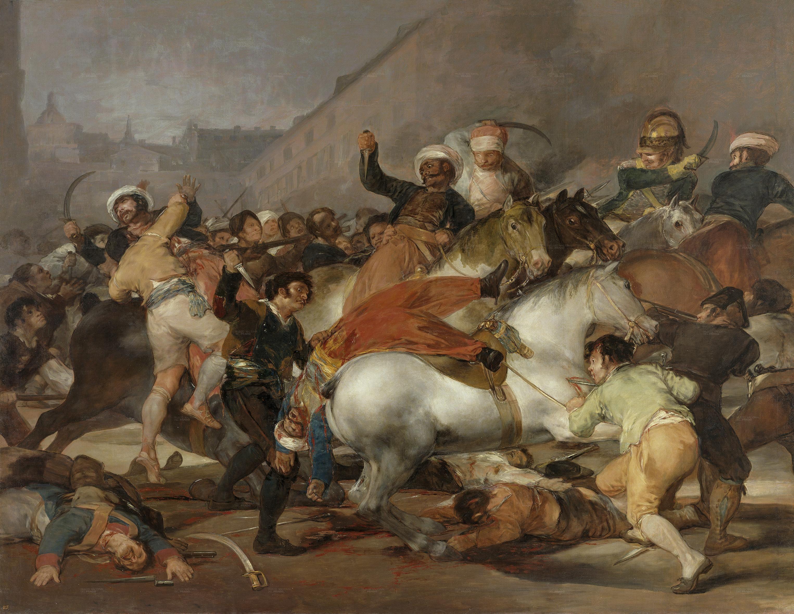 """Francisco de Goya (1746-1828), """"La carga de los mamelucos""""."""