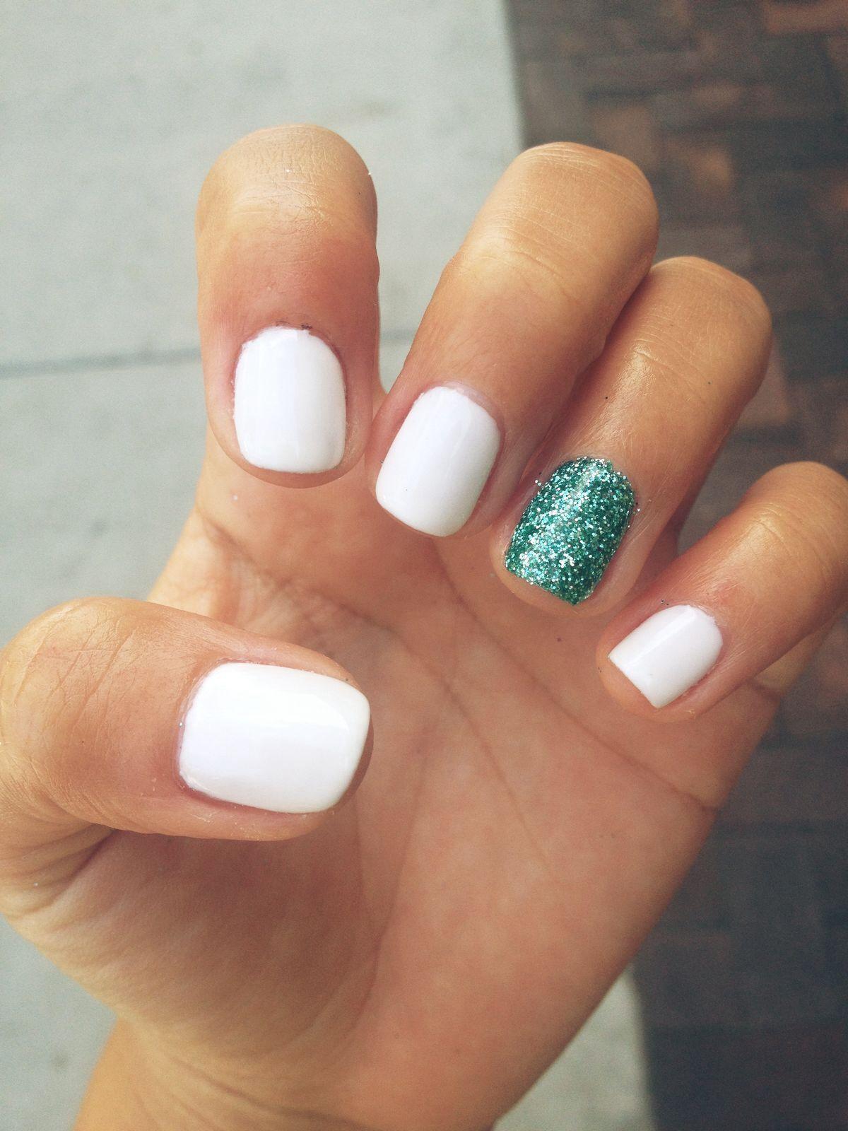White and turquoise nails fashion pinterest nails nail